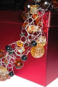 Crocheted Wire and Beads close up