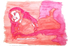 """Sweet Kylie"" Watercolor 2012"